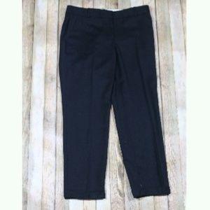 J. Crew Cafe Capri Pants Wool Tacked Cuff Work